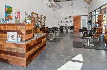 Petaluma Hair Company frontdesk construction
