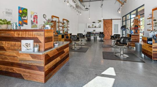 Petaluma Hair Company frontdesk construction