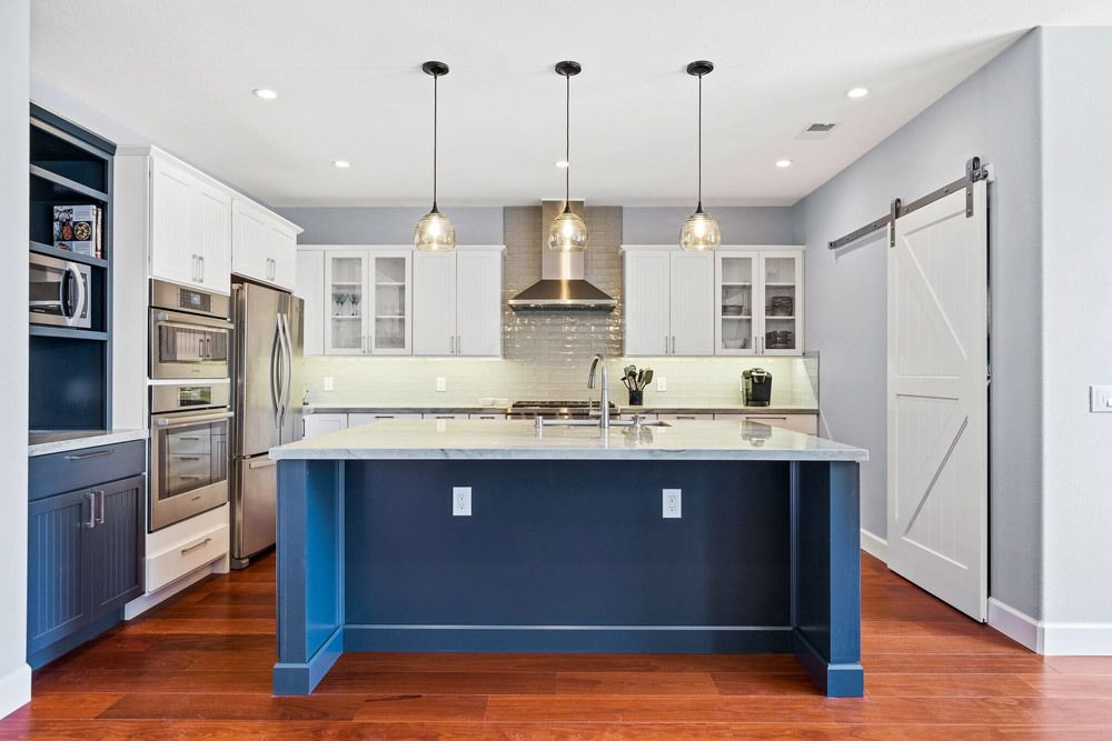 Modern Kitchen and Living Room Remodel - DRF Builders