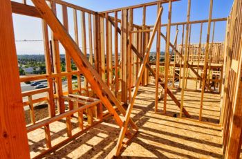 New home construction following wildfire event.
