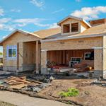 exterior view of in progress home construction in coffey park