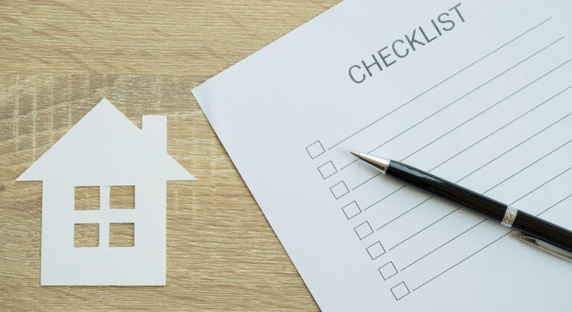 Post construction checklist concept